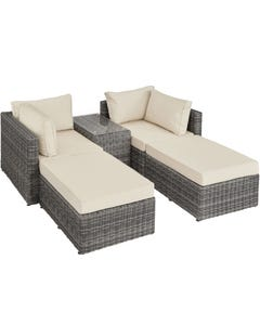 Rattan Lounge mit Aluminiumgestell San Domino