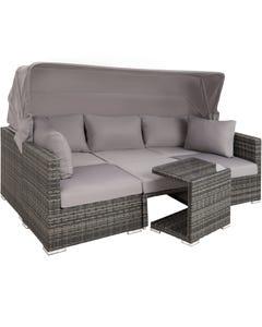 Rattan Lounge mit Aluminiumgestell San Marino