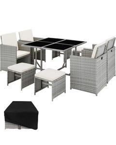 Salon de jardin BILBAO 8 places avec housse de protection