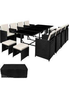 Rattan Sitzgruppe Palma 8+4+1 mit Schutzhülle