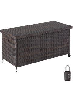 Auflagenbox Kiruna mit Kunststoffgeflecht, 121x56x60cm, 270l